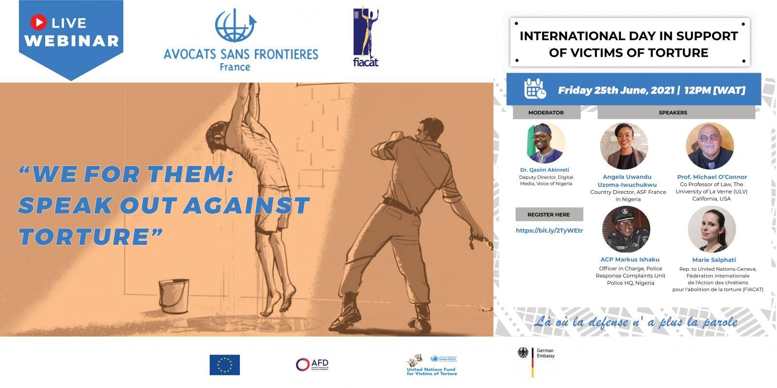 Illustration : WEBINAIRE - WE FOR THEM : Speak Out Against Torture