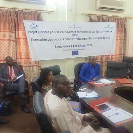 JUGE-Formation des avocats sur les Violences basées sur le genre (VBG)